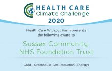 Gold for Carbon Reduction (Energy) in the Healthcare Climate Challenge Awards