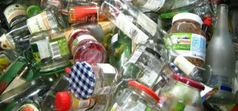 glass bottles and jars for recycling